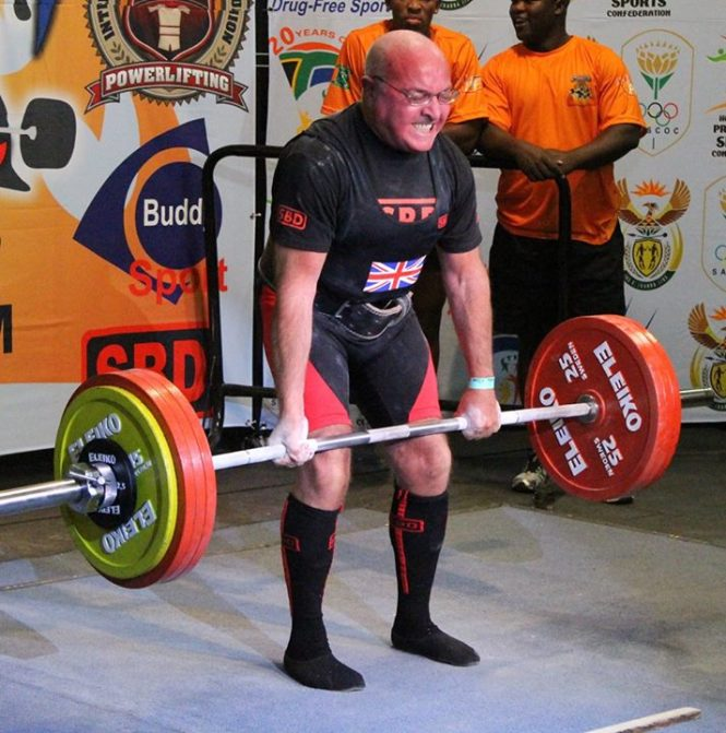 Ernie Parkes's world record 210kg deadlift